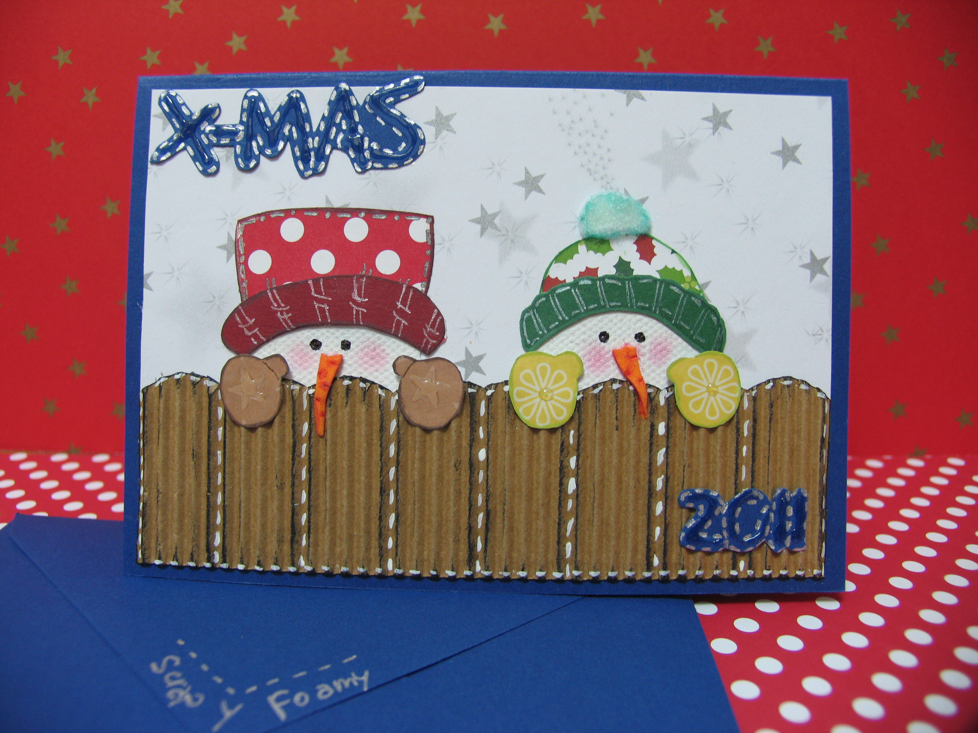 Blog hop en divas in recycling tarjetas de navidad - Como hacer targetas de navidad ...
