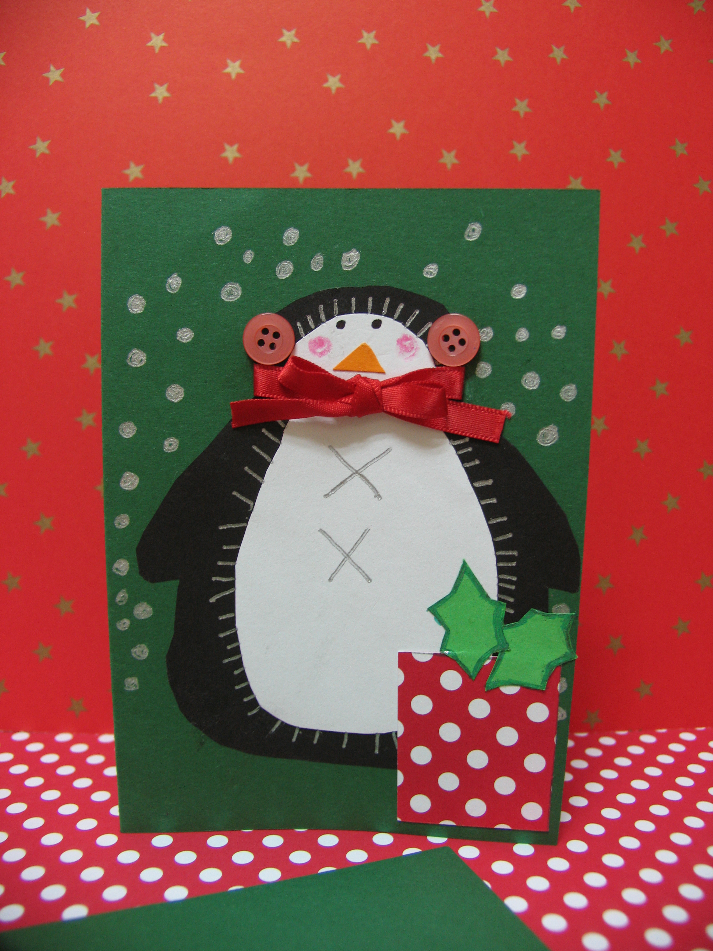Tarjetas de navidad bonitas hechas a mano