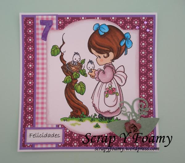 tarjeta cumple angela 7
